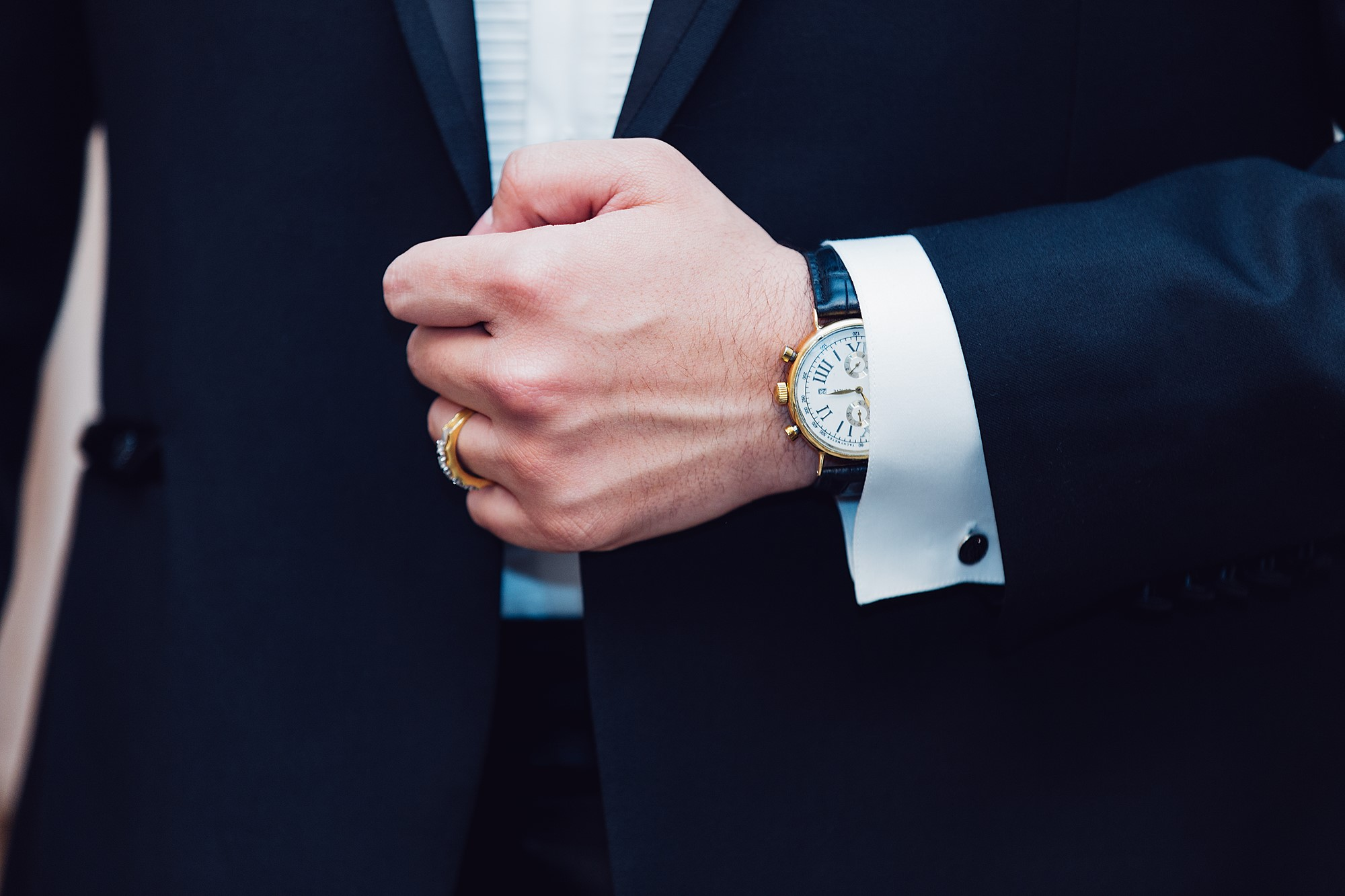 suit and watch